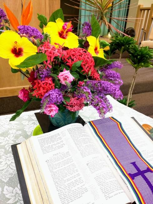 Open Bible flowers