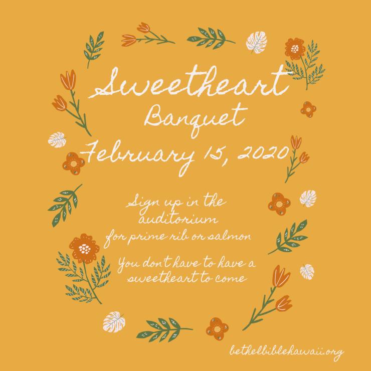 Sweetheart Banquet 2020